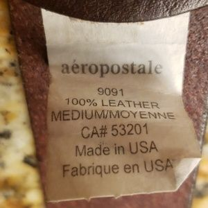 Aeropostale Accessories - Aeropostale Brown leather belt, crystal buckle